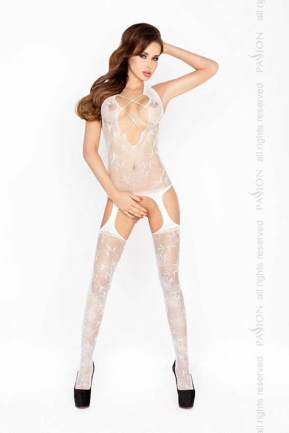 Bodystocking Passion BS017 bílá