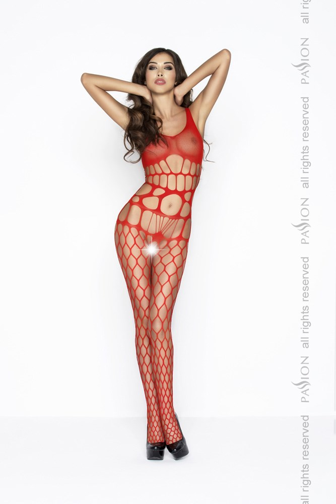 Passion BS032 red - Bodystocking
