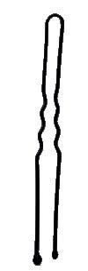 Abella vlásenka černá 7cm