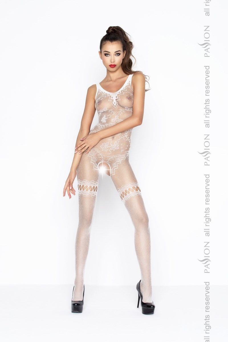 Bodystocking Passion BS045W bílá