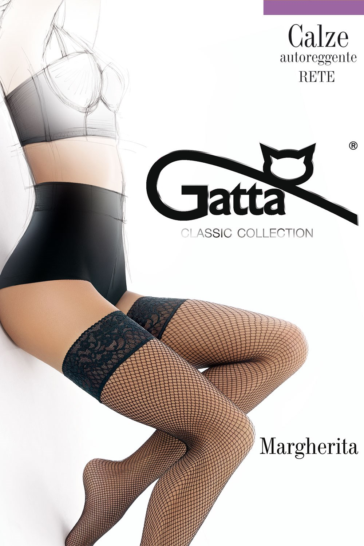 Punčochy Gatta Margherita 01 samodržící, síťované