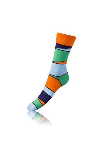 Ponožky Bellinda 4 ks, dárková sada modrá Crazy Sock Box BE481044-004 NEW