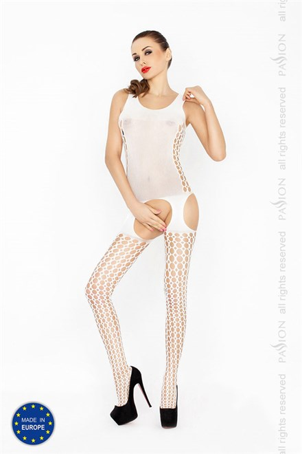 Bodystocking Passion BS029W bílá