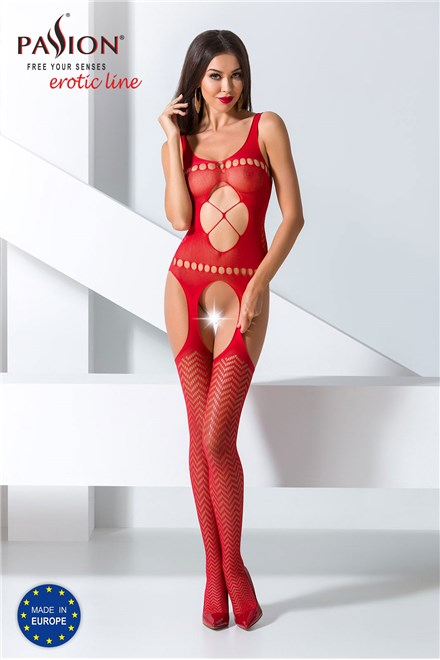 Bodystocking Passion BS057 red