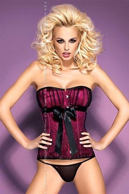 Korzet Obsessive Rubines corset - výprodej