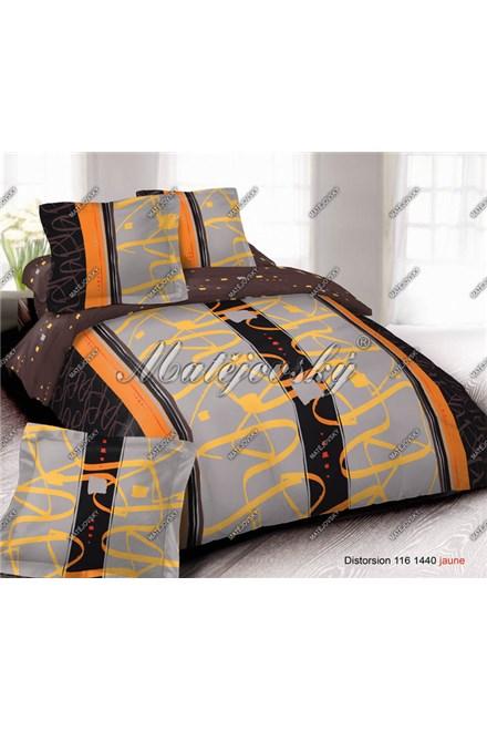 Bavlnené obliečky Matějovský Distorsion orange - bavlna deluxe, 1x 140/200, 1x 70/90