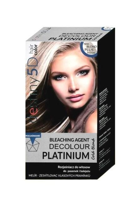 DESTINY 5D Decolour Platinium 40g + 80ml - biely platinový melír na vlasy