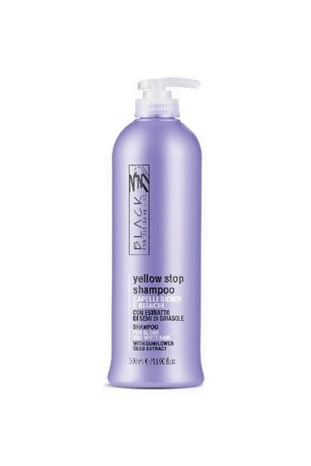 BLACK Yellow Stop Shampoo Antigiallo 500ml - šampón pre melírované a šedivé vlasy