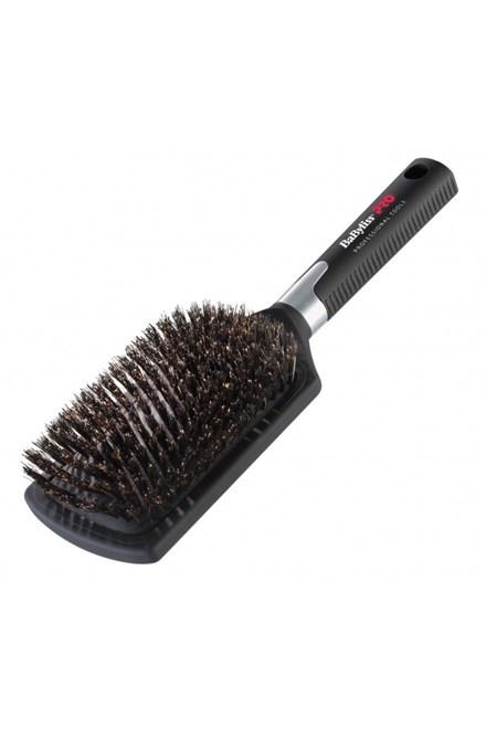 BABYLISS PRO BB1E Profi veľký plochý kefa na vlasy so štetinami z diviaka - šírka 82mm