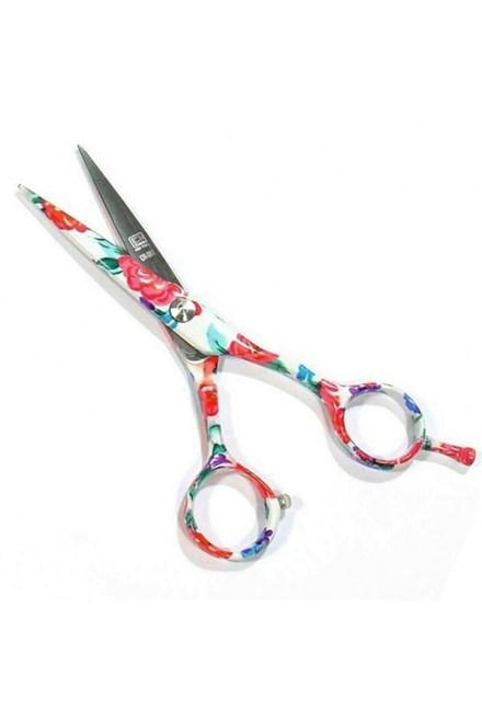 PRE FEEL JAPAN Blu White Flowers profesionálne kadernícke nožnice na vlasy 5 '