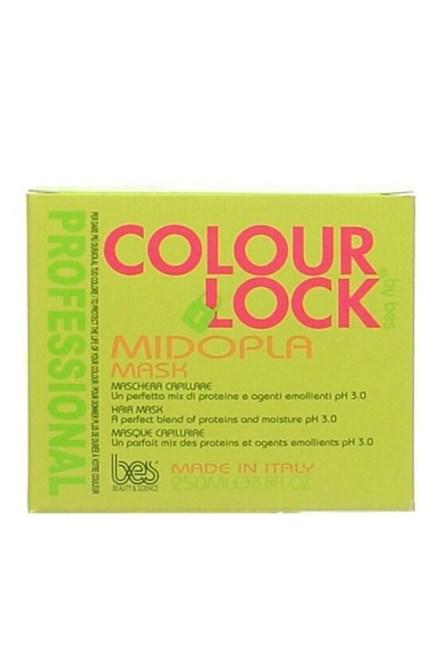 BES Colour Lock Maschera Midopla pH 3,0 - regeneračná maska \u200b\u200bna vlasy pre fixáciu farby 250ml