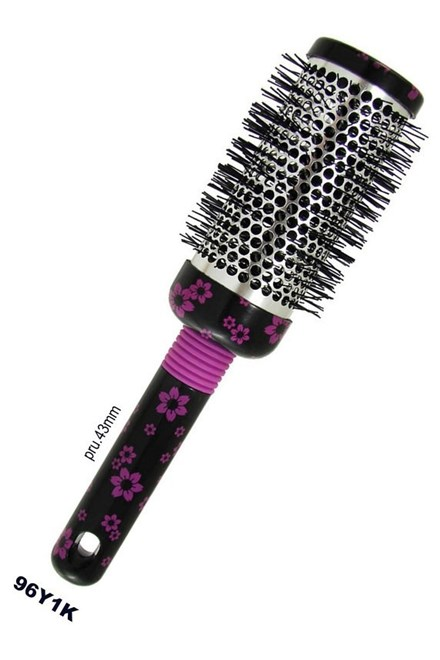 DUKO Kefy Okrúhly kadernícka vyhrievacia kefa na vlasy seria K vzor kvet - 43mm