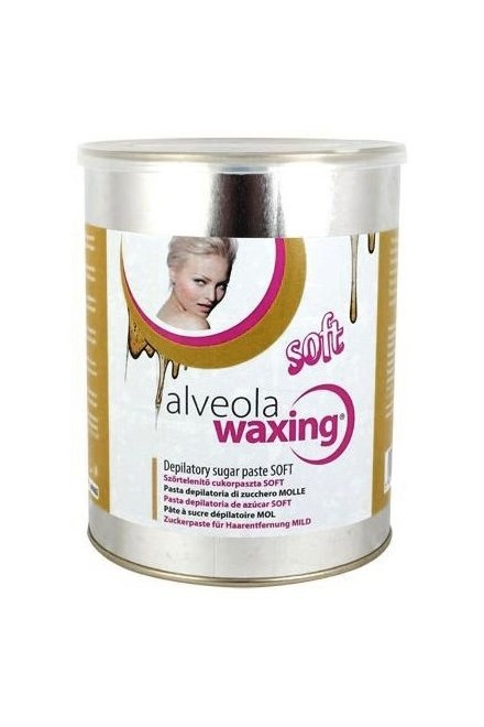 Alveolu waxing depilátor Sugar Paste SOFT - jemná depilačné pasta s cukrom a medom 1000g
