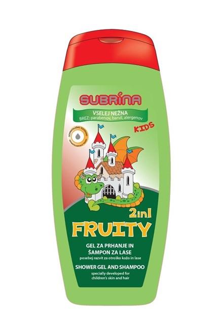 SUBRÍNA For Kids Fruity 2v1 250ml - detský sprchový gél a šampón 2v1