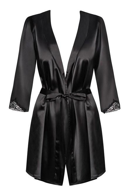 Dámsky župan Obsessive Satinia robe black