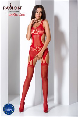 Bodystocking Passion BS066 red