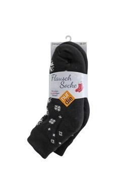 Zapeplené ponožky NurDie Flausch Socke černé