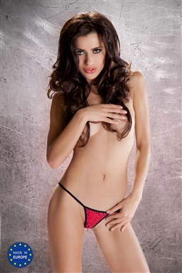Dámská erotická tanga Passion MT009 červená