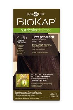 BIOKAP NUTRICOLOR DELICATO - Barva na vlasy - 4.05 Kaštanovo čokoládová 140 ml