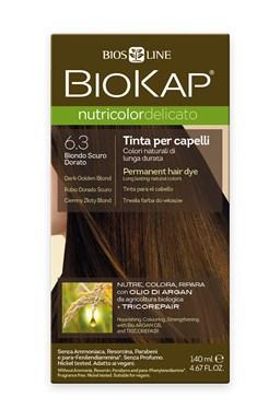 BIOKAP NUTRICOLOR DELICATO - Barva na vlasy - 6.30 Blond zlatá tmavá 140 ml