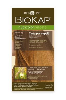 BIOKAP NUTRICOLOR DELICATO - Barva na vlasy - 7.33 Blond Zlatá pšenice 140 ml