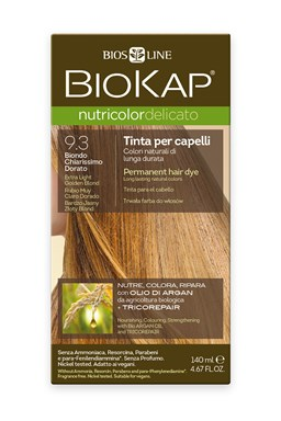 BIOKAP NUTRICOLOR DELICATO - Barva na vlasy - 9.30 Blond zlatá - Extra světlá 140 ml
