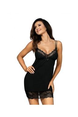 Noční košilka Donna Pamela black