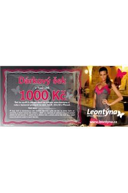 Darčekový šek Leontýna v nominálnej hodnote 1000 korún
