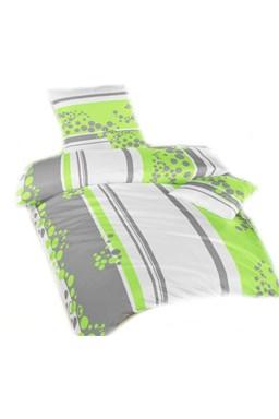 Obliečky krep Bodky zelené 140x200 cm povlak - výpredaj