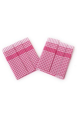 Utierka PAR ružovobiela kocka - 3 ks