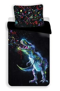 Obliečky fototlač Dinosaur Black