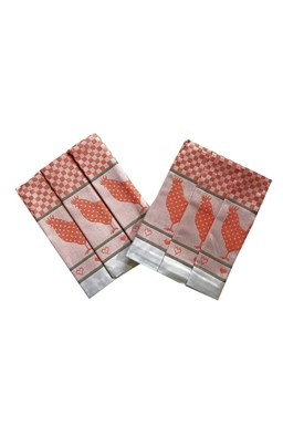 Utierka Extra savá 50x70 Sliepočka oranžové - 3 ks
