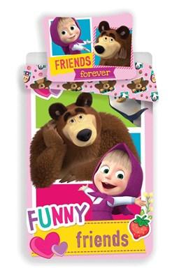 """Obliečky Máša a Medveď """"FRIENDS"""""""