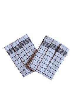 Utierka Negatív Egyptská bavlna biela / tmavo hnedá - 3 ks
