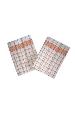 Utierka Negatív Egyptská bavlna biela / oranžová - 3 ks