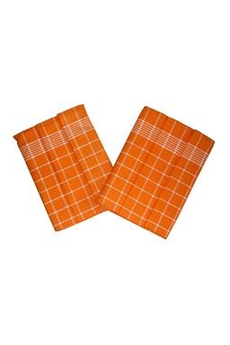 Utierka Pozitív Egyptská bavlna oranžová / biela - 3 ks