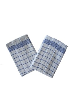 Utierka Negatív Egyptská bavlna biela / modrá - 3 ks