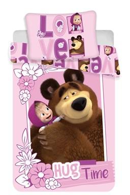 "Disney povlečení do postýlky Máša a medvěd ""Love"" baby"