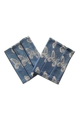 Utierka Extra savá 50x70 Motýliky - modrá - 3 ks