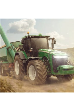 "Povlak na polštářek Traktor ""Green"""