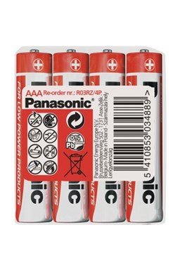 Baterie R03 4S AAA Red zn PANASONIC - V