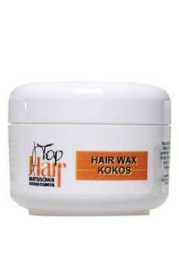 MATUSCHKA Top Hair - Hair Wax jemný vosk na vlasy v kelímku - kokos 100ml