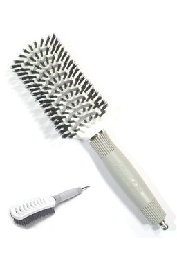 OLIVIA GARDEN Pro TVent Styler - plochý kadernícky kefa na vlasy so štetinami z diviaka