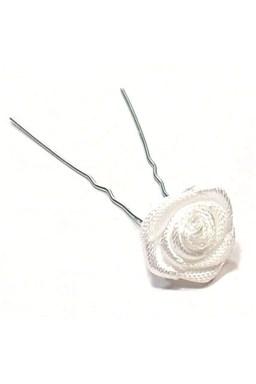 Vlasové doplnky Vlásenka s ružičkou 1ks - biela