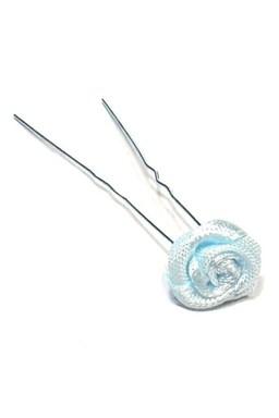 Vlasové doplnky Vlásenka s ružičkou 1ks - modrá