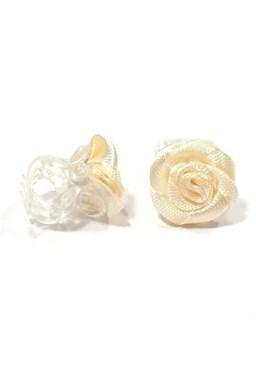 Vlasové doplnky Skřipeček s ružičkou 1ks - béžový