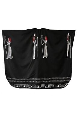 FOX Pláštěnky Kadernícky strihací plášť Egypt - čierna