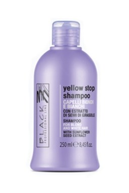 BLACK Yellow Stop Shampoo 250ml - šampón pre melírované a šedivé vlasy