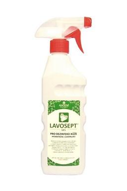 LAVOSEPT Gel Hydratačný gél na dezinfekciu rúk a kože 400ml - bez parfumácie a farbív
