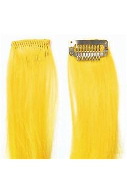 SO.CAP. Original 40cm synt. vlasové pramene na 3cm spone - Yellow žltá